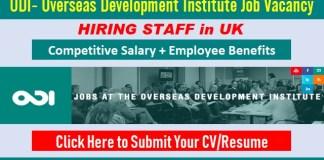 Overseas Development Institute Jobs ODI Careers Vacancy and Employment Opportunities UK