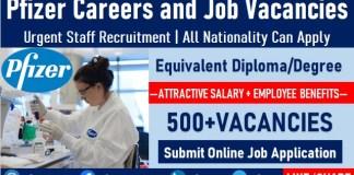 Pfizer Careers Recruitment Urgent Job Vacancies and Staff Hiring Opportunities