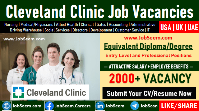 Cleveland Clinic Jobs and Employment Opportunities in United States, United Kingdom and Abu Dhabi UAE