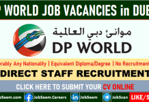 DP World Careers in Dubai, UAE Multiple Vacancy Openings and Direct Staff Recruitment