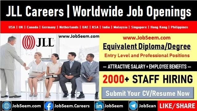 JLL Careers Jones Lang LaSalle Real Estate and Finance Worldwide Job Vacancies