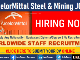 ArcelorMittal Job Vacancies Steel and Mining Direct Staff Recruitment