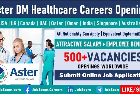 Aster DM Healthcare Careers and Pharmacy Job Vacancies Openings Apply Now