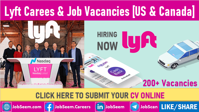 Lyft Careers Recruitment Corporate Rider Service Jobs Opening and Employment Opportunities