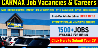 CarMax Careers and Employment, Job Vacancies in United States and Direct Staff Recruitment