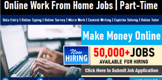 Online Jobs From Home Part Time Data Entry and Typing Remote Work Opportunities