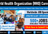 WHO Careers Openings World Health Organization Job Vacancies and Staff Recruitment