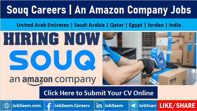 Souq Careers Opening An Amazon Company Jobs and Vacancies