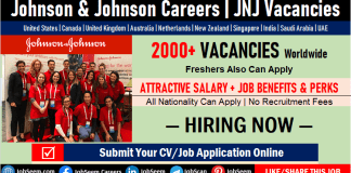 JNJ Careers-Latest Johnson and Johnson Jobs, Vacancies, Employment and Internship Opportunities