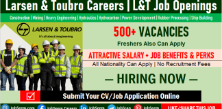Larsen and Toubro Careers Recruitment for Freshers, L&T Company Job Vacancy Openings