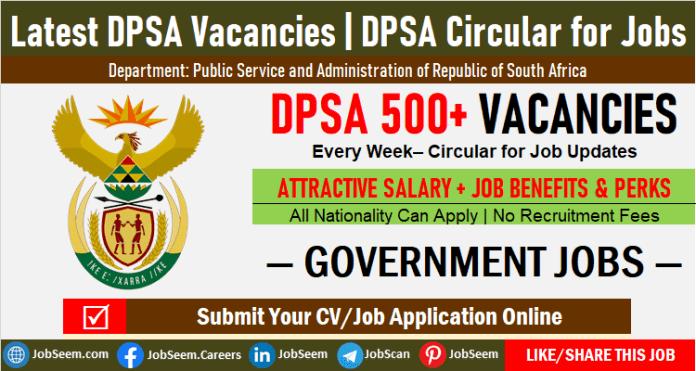 DPSA Vacancies Weekly Update, Latest DPSA Circular for Jobs and Career Openings This Week