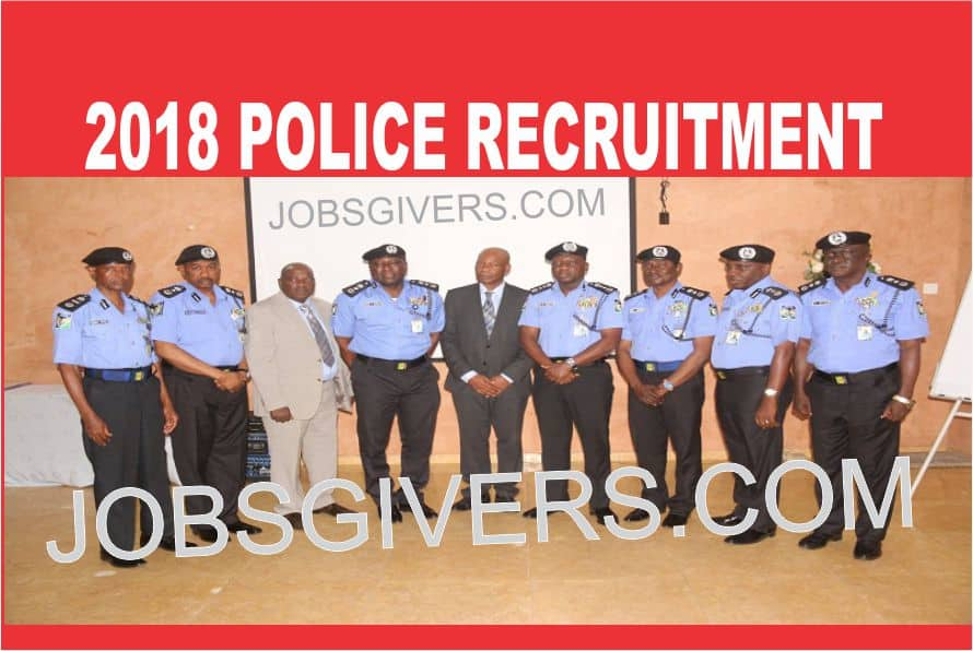 Massive Police Recruitment for 2018 And 2019 | JobsGivers
