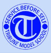 tribune model school chandigarh logo