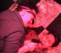 (L-R) Jason Evans and David Doan in Jobsite's Waiting on Sean Flynn.
