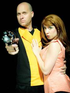 Jonathan Harrison and Amy E. Gray in Jobsite's Return to the Forbidden Planet. (Photo by Crawford Long.)