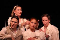 (L-R) Nicole Jeannine Smith, Emily Belvo, Katrina Stevenson and Jonelle Meyer in Jobsite's Orlando. (Photo courtesy Crawford Long.)