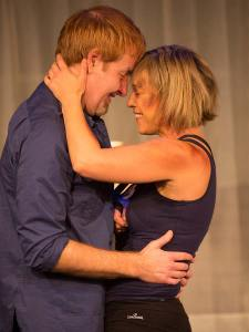 David M. Jenkins and Joanna Sycz in Jobsite's Time Stands Still. (Photo by Pritchard Photography.)