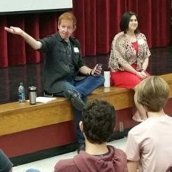 David Jenkins and Lauren Field at Orange Grove Magnet Middle School