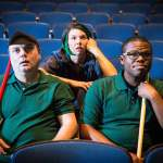 Brian Shea, Georgia Mallory Guy and Thomas Morgan in Jobsite's The Flick. (Photo courtesy Pritchard Photography.)
