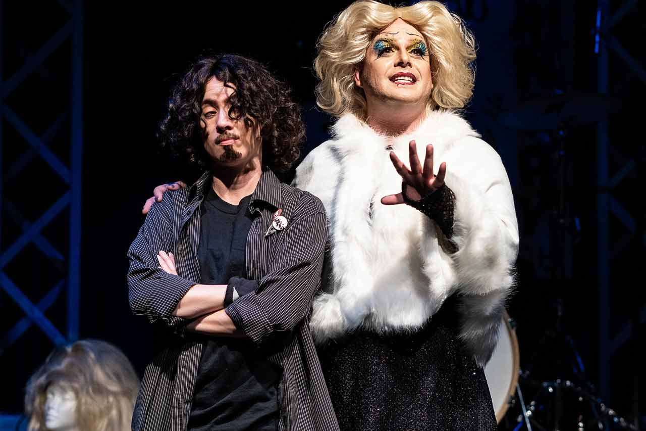 Amy Gray and Spencer Meyers in Jobsite's Hedwig and the Angry Inch. (Photo courtesy Pritchard Photography.)