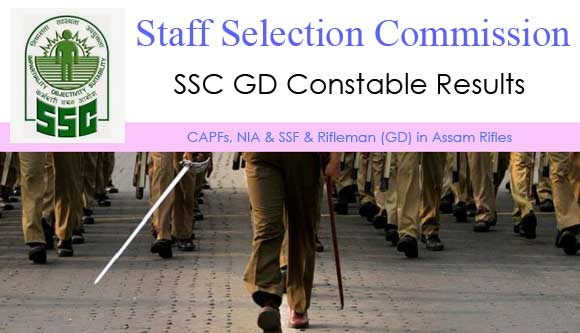 SSC GD Constable Results 2015 Merit List & Cut Off Marks