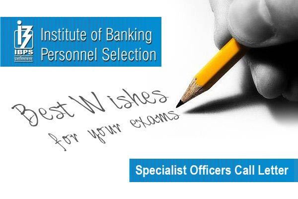 IBPS Specialist Officer admit card Download @ibps.in