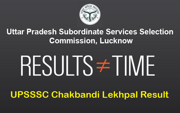 UPSSSC Chakbandi Lekhpal Result at upsssc.gov.in