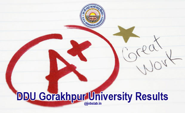 DDU Gorakhpur University Results for BA, MA, LLB, B.Com, BSC, BBA, BCA Exam