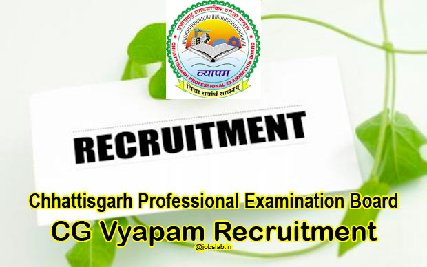 CG Vyapam Hostel Warden Recruitment 2016 Apply for 819 Chatrawas Adhikshak Posts