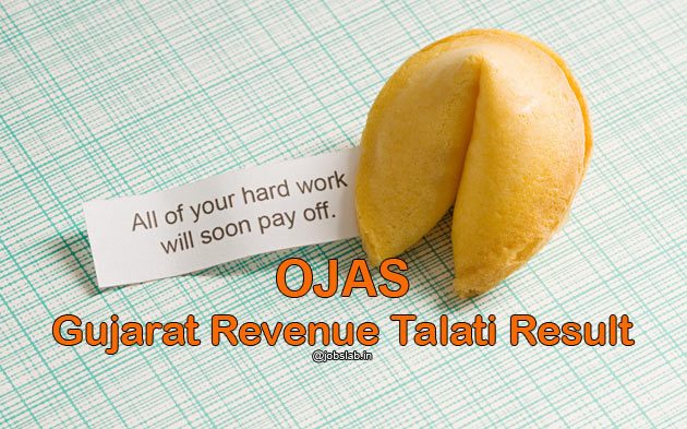 OJAS Revenue Talati Result 2016 & Talati Merit list Available
