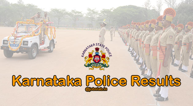 Karnataka Police Result 2016 for APC, CPC, KSRP 4350 Constable Posts Available