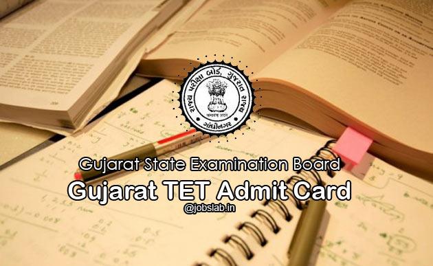 Gujarat TET Admit Card 2016 Download GTET Hall Ticket/Call Letter