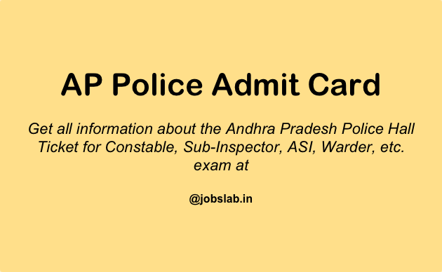AP Police Admit Card 2016 Download AP Police Hall Ticket
