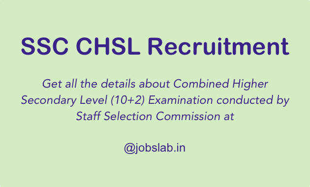 SSC CHSL Recruitment 2016-17 Apply for CHSL (10+2) LDC DEO Posts