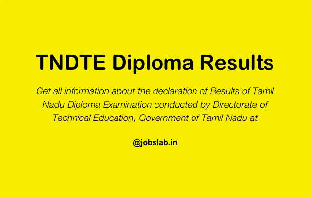 TNDTE Diploma Results - Check Tamil Nadu Polytechnic Results