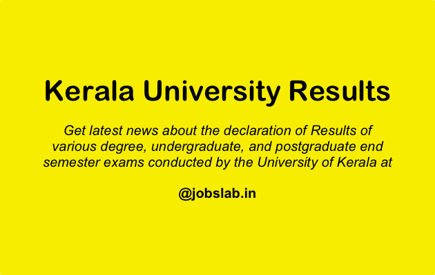 Kerala University Result - Check Kerala University UG PG Results