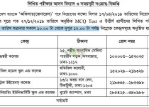 seat plan of Assistant Executive Officer (AEO), Janata bank limited