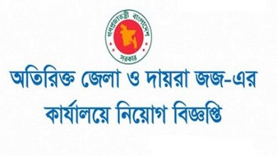 Photo of Additional District Judge's Office Job Circular 2019