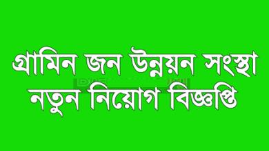 Photo of Grameen Jono Unnayan Sangstha (GJUS) Job Circular 2019
