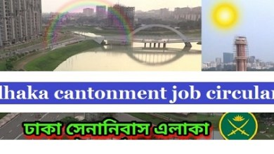 Photo of Dhaka Cantonment Job Circular 2019