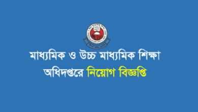 Photo of Directorate of Secondary and Higher Education (DSHE) Job Circular 2021