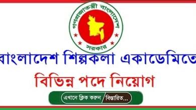 Photo of Bangladesh Shilpakala Academy Job Circular 2021