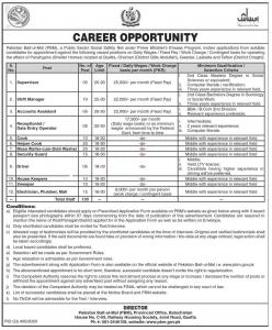 Pakistan Bait ul Mal Jobs November 2020 Under PM Ehsaas Program