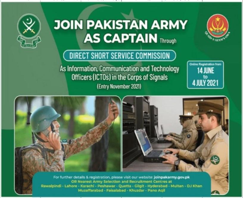 Pak Army Captain Jobs 2021 Join Through DSSC