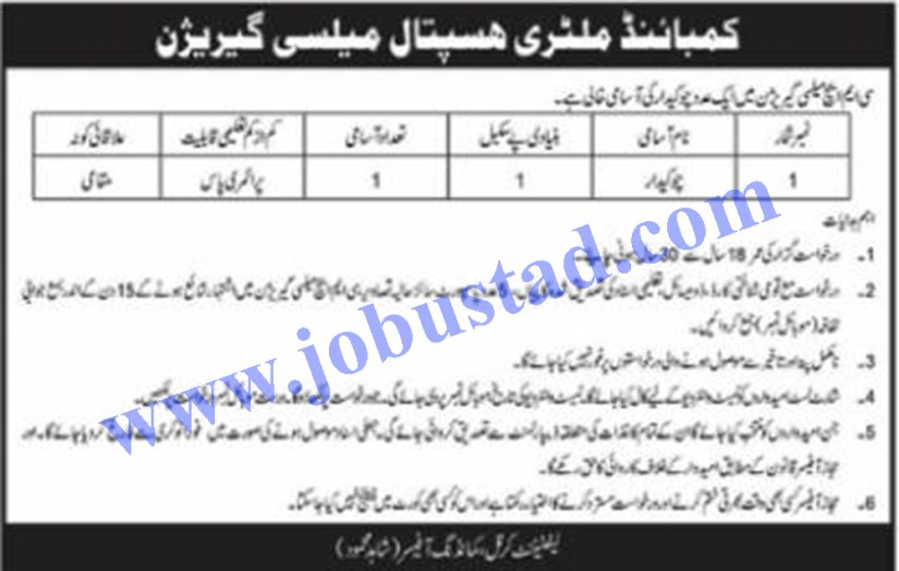 CMH Jobs in Mailsi 2021 Advertisement - Combined Military Hospital Mailsi Jobs