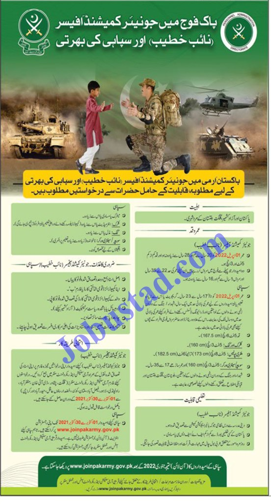 Join Pak Army Jobs 2021 as Soldier and JCO Advertisement