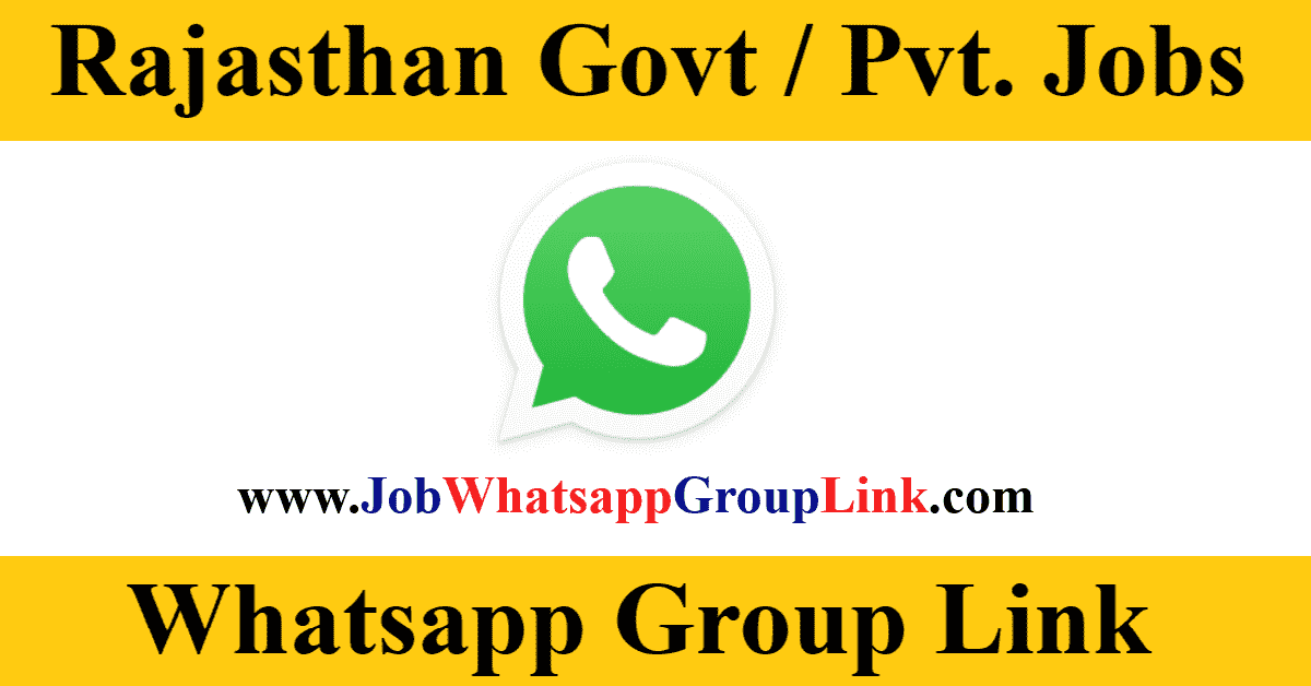 Rajasthan Government Private Job Vacancy WhatsApp Telegram Group Link Join 2021