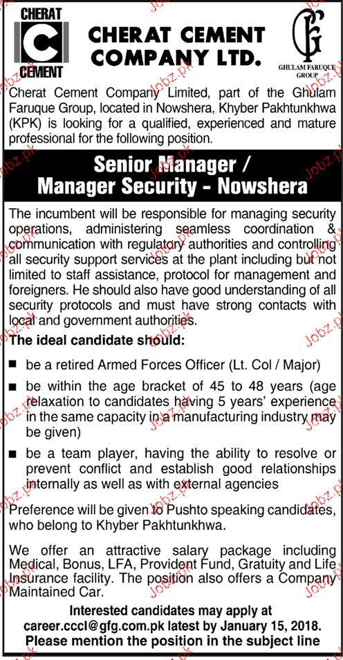 Cherat Cement Company Limited Jobs 2020 Job Advertisement