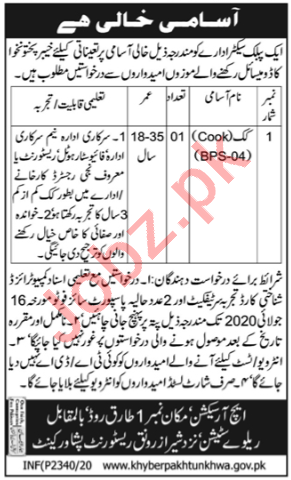 Latest Public Sector Organization Labor Posts Peshawar