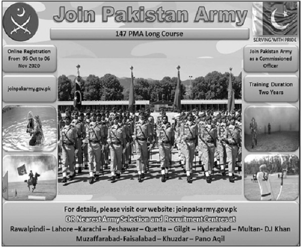 Pakistan Army Jobs 2020 For Commissioned Officers